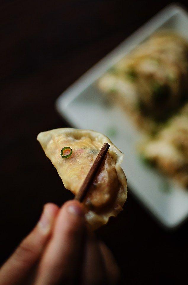 Old Bay Crab Dumplings - creamy crab dip (or krab dip) spiced with old bay and lemon in a steamed dumpling