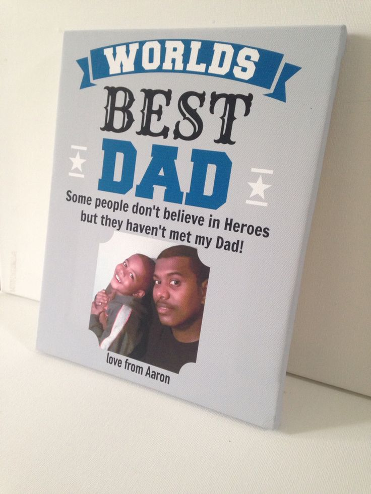 Father's Day gift personalised with your own photo and name / names, any colours, £12 on canvas plus FREE uk postage, first class signed for. Www.essexprintingservice.co.uk #fathersday