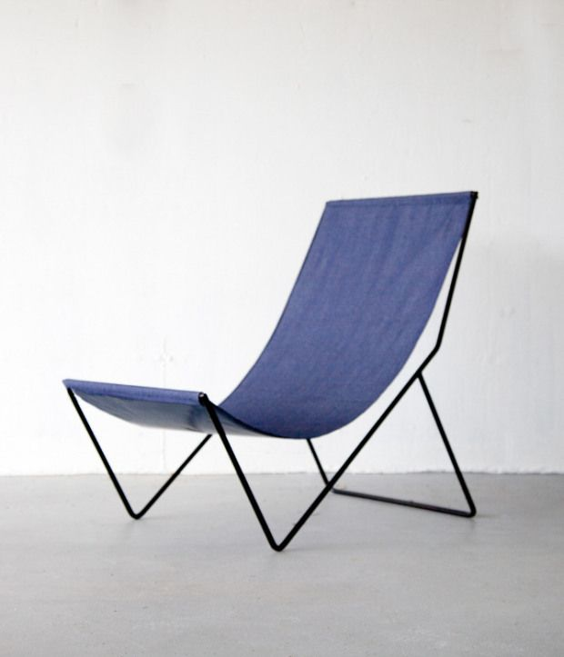 Sit Read Sling Chair Outdoor Canvas Design Furniture Light Pinterest Canvases Armchairs And Bench