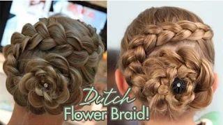 Dutch Flower Braid   Updos   Cute Girls Hairstyles - YouTube
