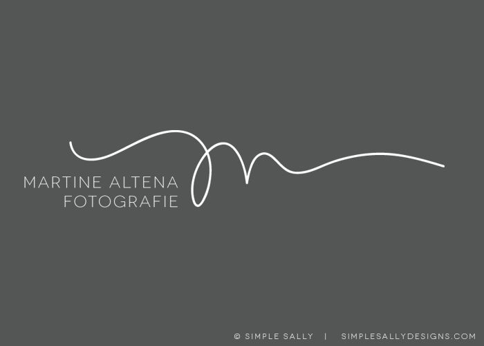 Simple Sally initials logo | Martine Altena Fotografie | #simplesally #logo #photographers