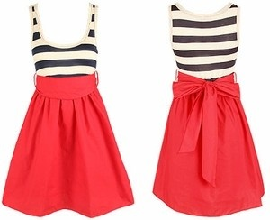 dress: Clothes Shoes Style, Skirt Style, Cute Dresses, Style Dresses, Becky S Style, Bow, Ramirez701 Stripeddress, Dresses Skirts Bottoms
