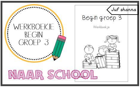 Nieuw schooljaar: werkboekje voor begin groep 3 - neutraal. Geen afbeeldingen van een leesmethode!