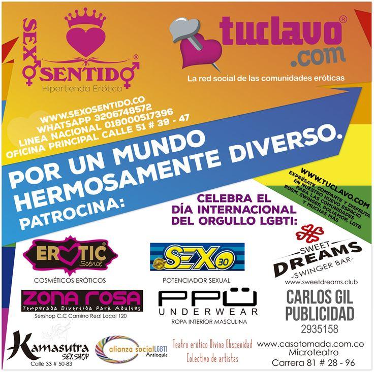 www.tuclavo.com Apoya la marcha por la diversidad sexual en Medellín!  #LGTBI #Medellin #Colombia