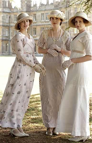 Downton Abbey- Mary, Edith, and Sybil