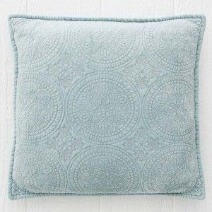 Gorgeous stonewashed velvet cushion with an exquisite quilted finish. Filled with 100% duck feather in a cotton voile casing.