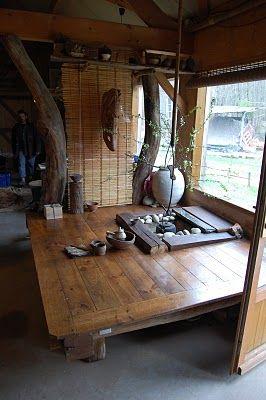 Tea jar: David Louveau - A potter's Potter - Le Potier des potiers,  Wonderful idea for a tea space!