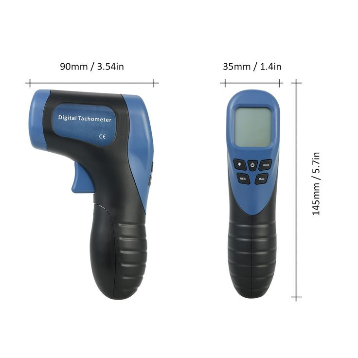 Handheld Digital LCD Photo Tachometer Laser Non-Contact Tach Sales Online blue - Tomtop  #electronics #tools #gadgets