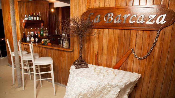 While La Barcaza is also a party boat, it cleans up nicely and welcomes your guests with an elegant wood finish