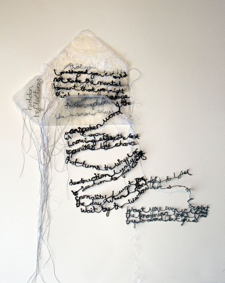 'A letter' by Maria Wigley all rights reserved #embroidery #textiles #poetry…