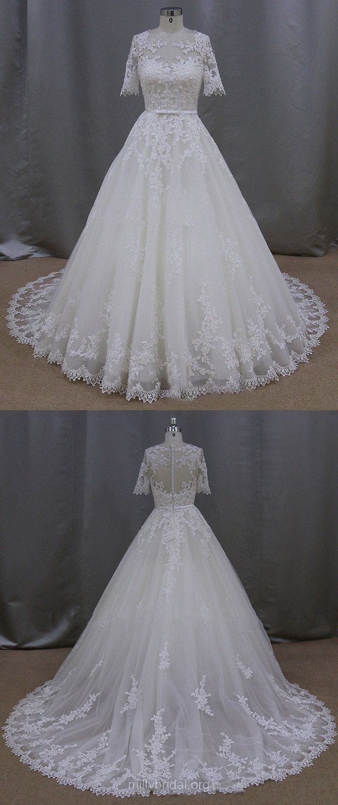 Ball Gown Wedding Dresses Lace, Country Wedding Dress Vintage, Simple Wedding Dresses Modest