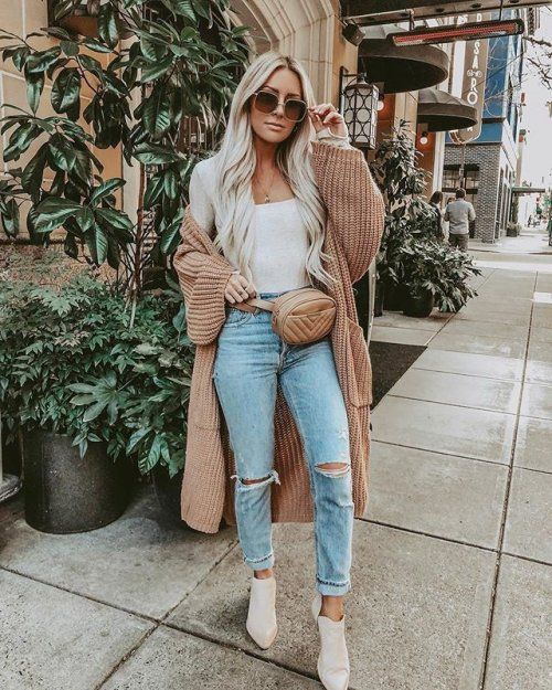 fd9ebda2995b Maureen Light Brown Oversized Long Knit Cardigan in 2019