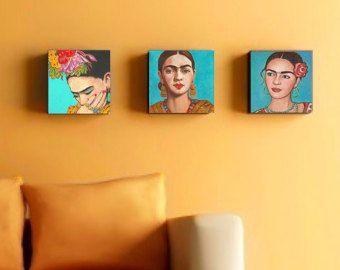 40% de descuento Frida Kahlo imprimir lona Set abrigo de arte popular mexicano corporativo arte agrupación mexicana casa decoración de pared, pintura de Frida poster cartel