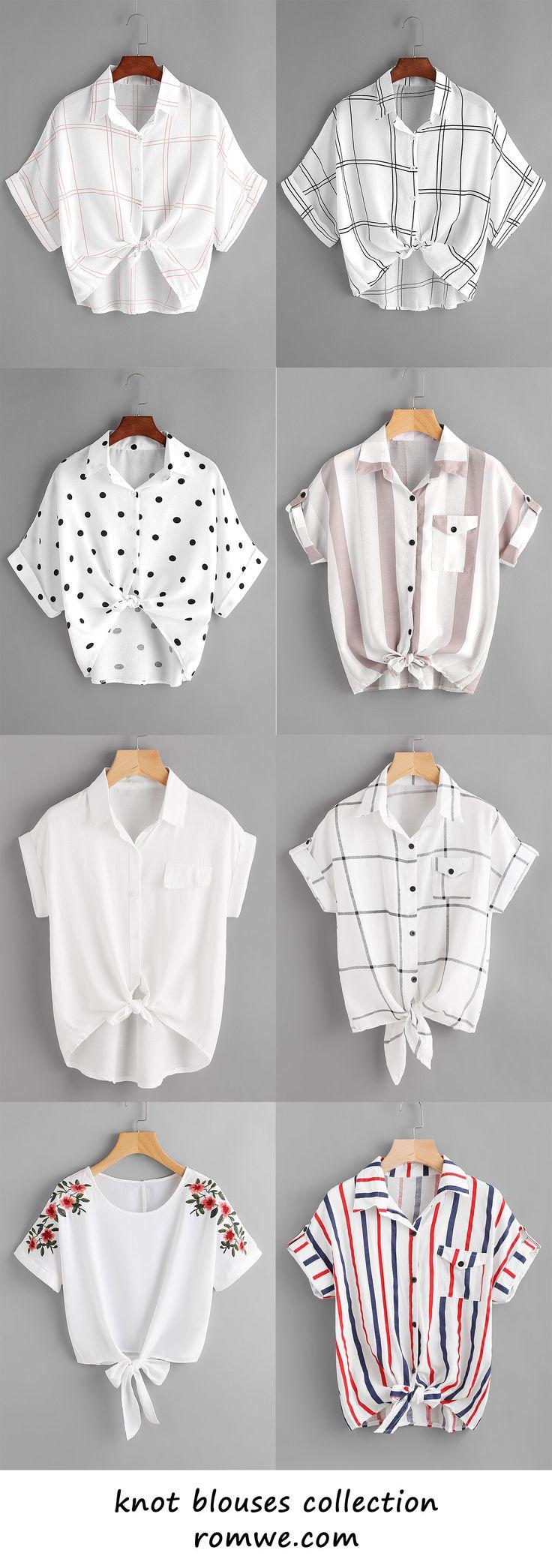 knot blouses 2017 - romwe.com