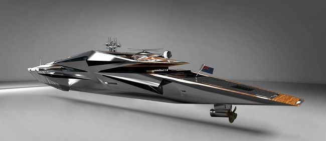 The magnificent luxury yacht design, MY ROSWELL, was created by Monaco-based des…