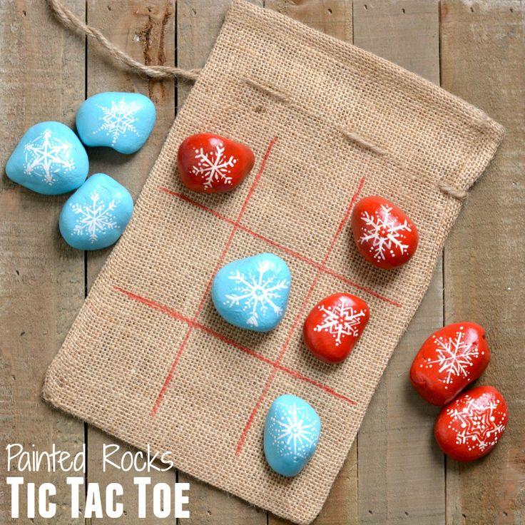 DIY Painted Rocks Tic Tac Toe Game   www.homeology.co.za   #games #indoorgames #boardgames #tictactoe #diy #crafts #schoolcrafts #kidscraffts