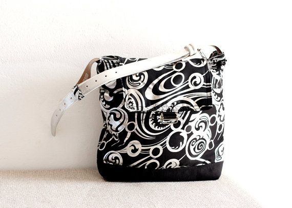 Cross body bag black and metallic silver with by TheColourLab