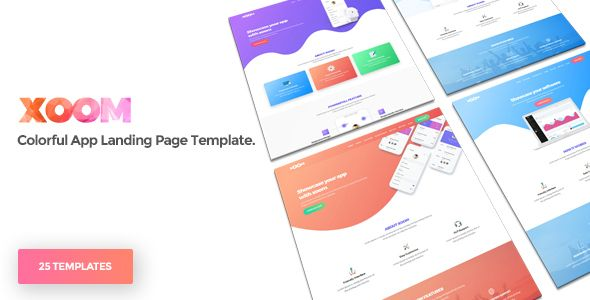 XOOM App Landing Page Template by WowThemez XOOM is a clean and