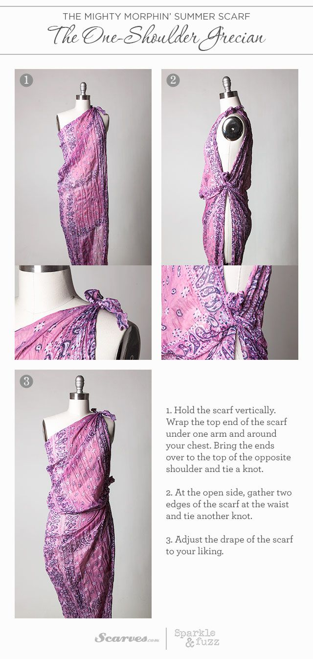 The Mighty Morphin' Summer Scarf: The One-Shoulder Grecian