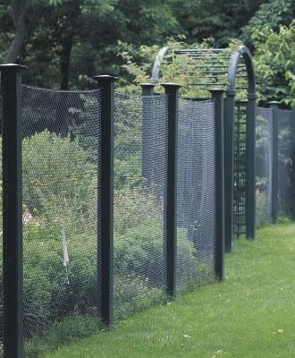 Deer Fence With Custom Arbor View Two. Garden Arbor ...