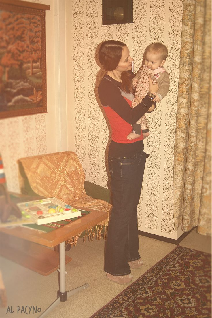 Vintage 70s photoshoot Sesja PRL Vintage mom and baby Lata 70