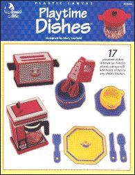 plastic canvas dishes | Plastic Canvas Books