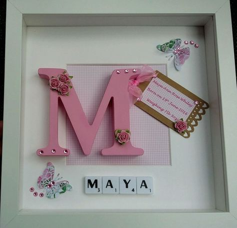 Personalised scrabble frame New Baby Christening, Boy & Girl Gift Keepsake in Crafts, Hand-Crafted Items   eBay!