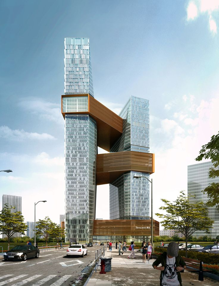 Image 3 of 9 from gallery of NBBJ Designs Towering Shenzhen Campus for Internet Giant. Photograph by NBBJ