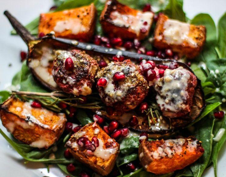 Beetroot Lamb Meatball Salad