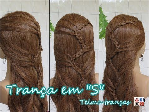 Trança em S cabelo solto (Ondas do Mar, ocean waves braid) - Telma tranças - YouTube