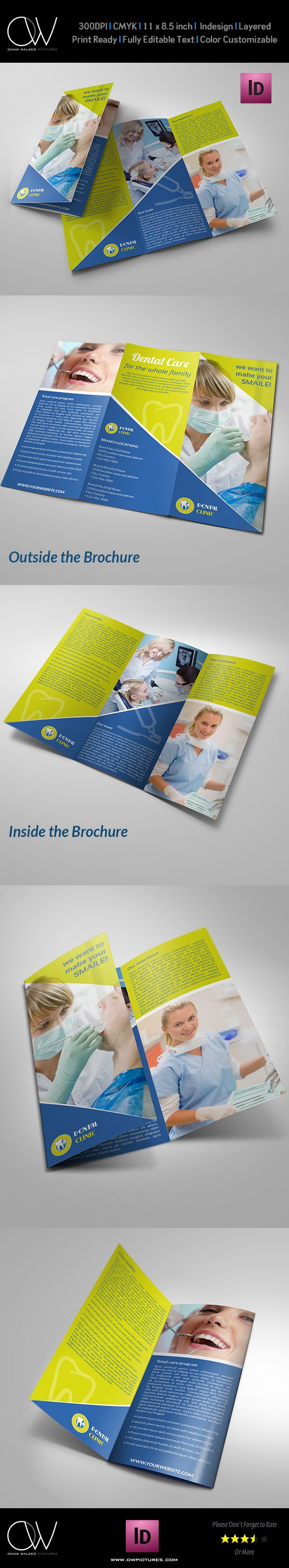 Dental Clinc Tri-Fold Brochure by omaralmudaries.deviantart.com on @deviantART