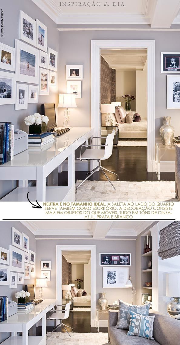 Love this table for the home office! It should be easier to clean with the glass cover! :) - via livinggazette.com