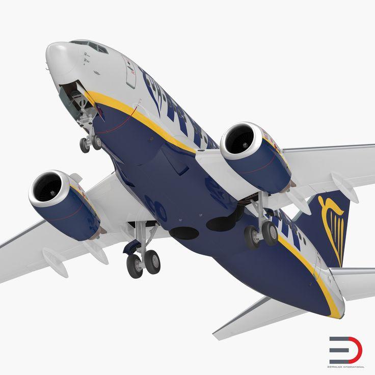 3D Boeing 737-600 Ryanair model