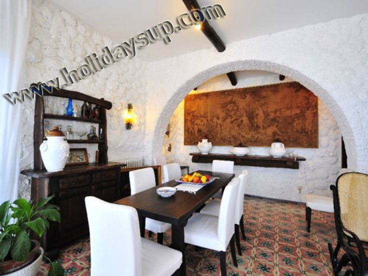 Villa living area and dining area at quiet place in sorrento coast for your Holiday in Amalfi Coast