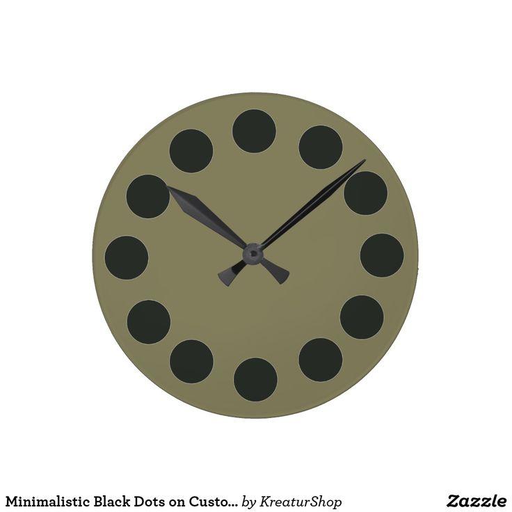 Minimalistic Black Dots on Custom Color