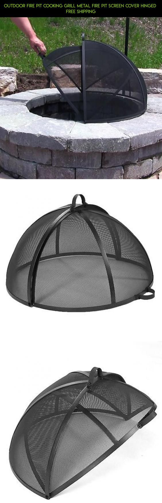 Outdoor Fire Pit Cooking Grill Metal Fire Pit Screen Cover Hinged  FREE SHIPPING #racing #products #fpv #kit #plans #shopping #drone #camera #gadgets #tech #technology #fire #outdoor #parts #cooking #pit