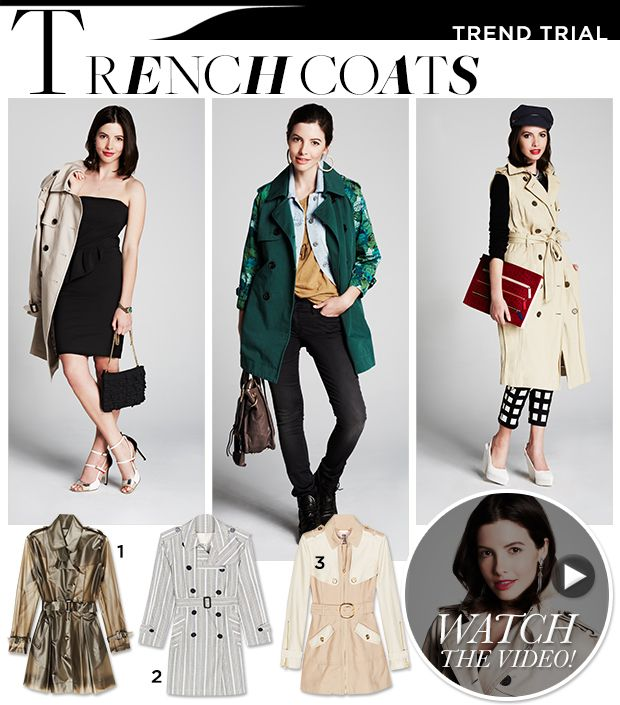3 Fresh Ways To Wear the Timeless Trench via @WhoWhatWear