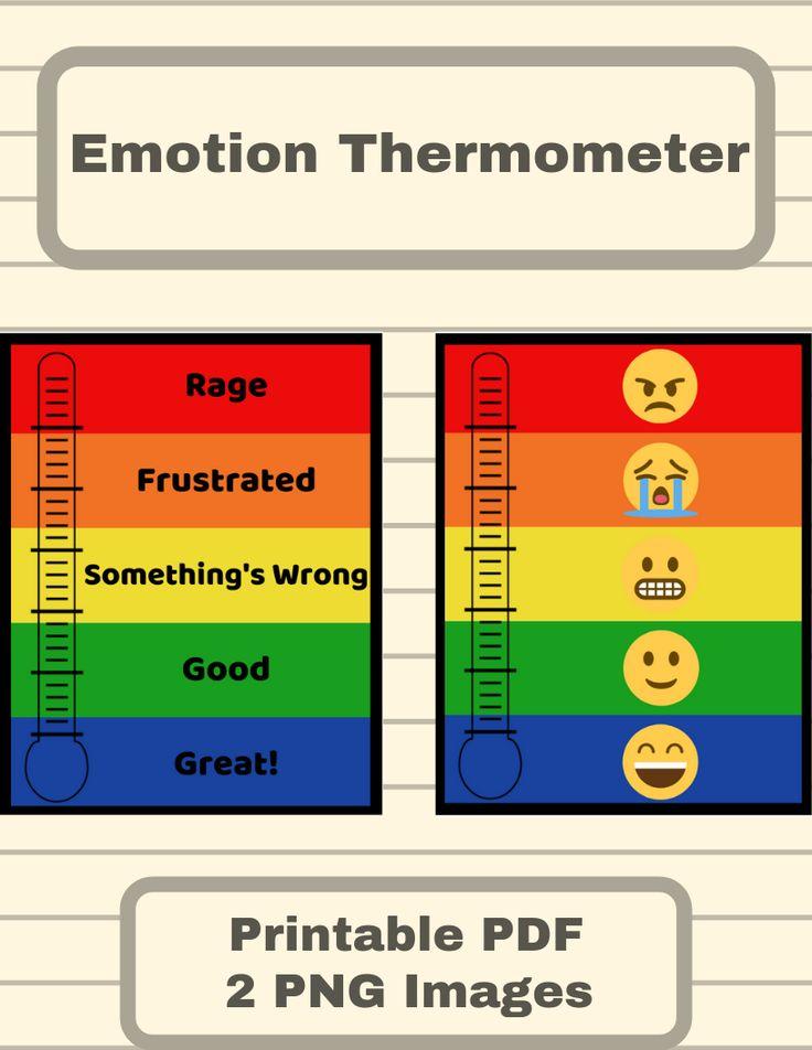 Emotion thermometer behavior management behavior chart