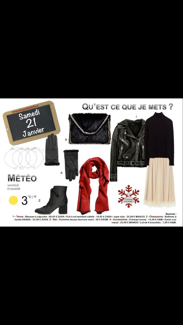 """Une tenue spéciale """"Recherche Susan Désespérément"""". #jupe #cuir Les liens sur 2minutesjemhabille.fr"""