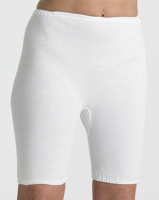 XL New L Ladies cotton Long Leg Pantee Bloomer UK Made BY Snow DROP White M