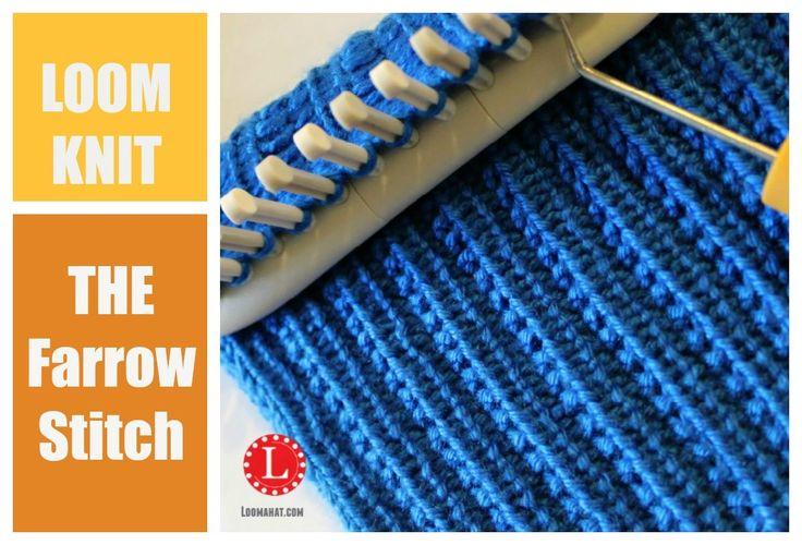 Loom Knit Rib Stitch Hat : LOOM KNITTING STITCHES : The Farrow Rib Stitch ivanir alves aranha Pinter...