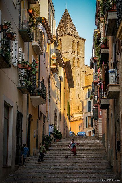 Iglesia gótica de Sta Creu. Una de las más lindas de Palma.
