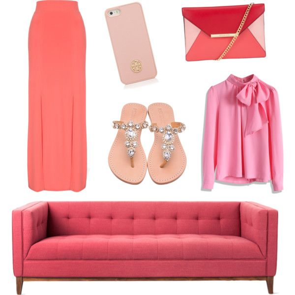 Corail by muslimco on Polyvore featuring polyvore, mode, style, Chicwish, Jane Norman, MICHAEL Michael Kors and Tory Burch
