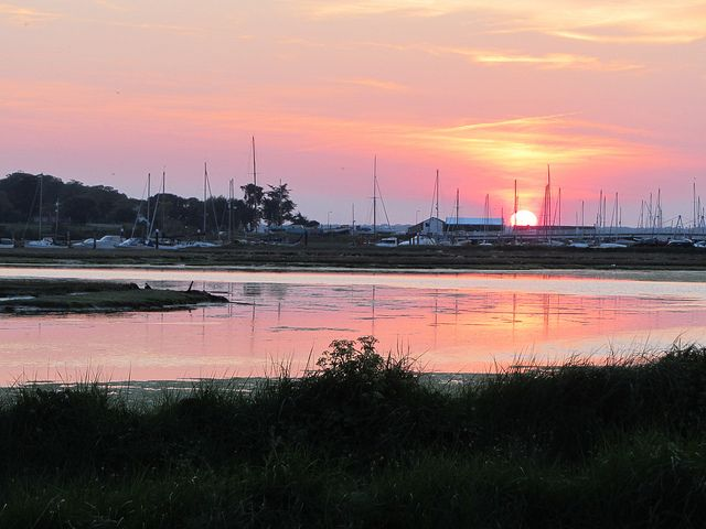 sunset Yarmouth Isle of Wight