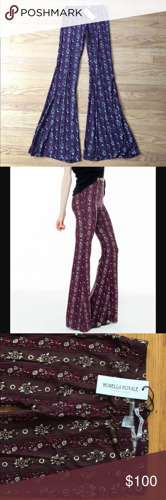 Novella Royale - Janis Bells - Purple - XS Brand new with tags! Novella Royale Pants Boot Cut & Flare