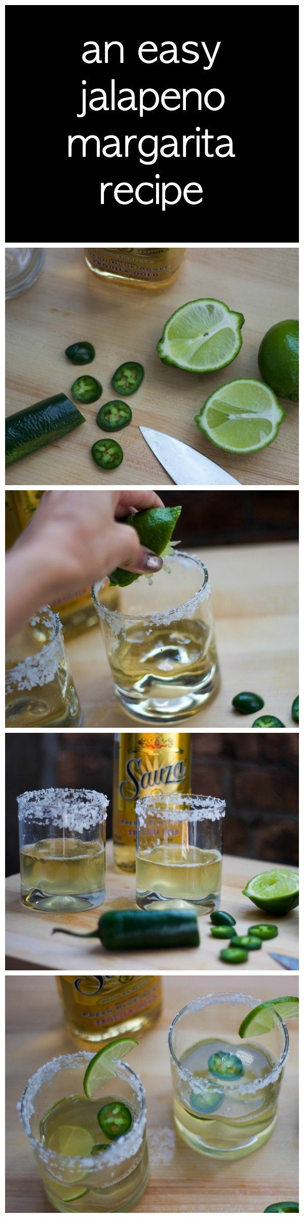 an easy and delicious spicy jalapeno margarita | holiday cocktail, easy margarita