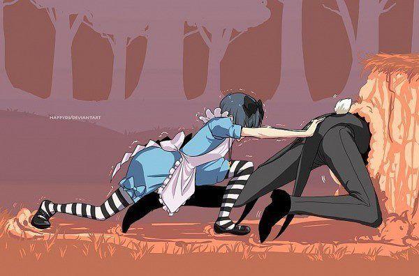 Ciel Phantomhive (Alice) & Sebastian Michaelis (White Rabbit)  Kuroshitsuji / Black Butler OVA Ciel in Wonderland