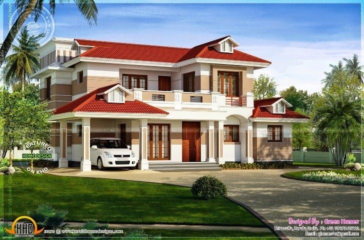 Exterior Walls Paint Ideas Color Scheme Combination House Roof Design Red Roof House Modern Roof Design