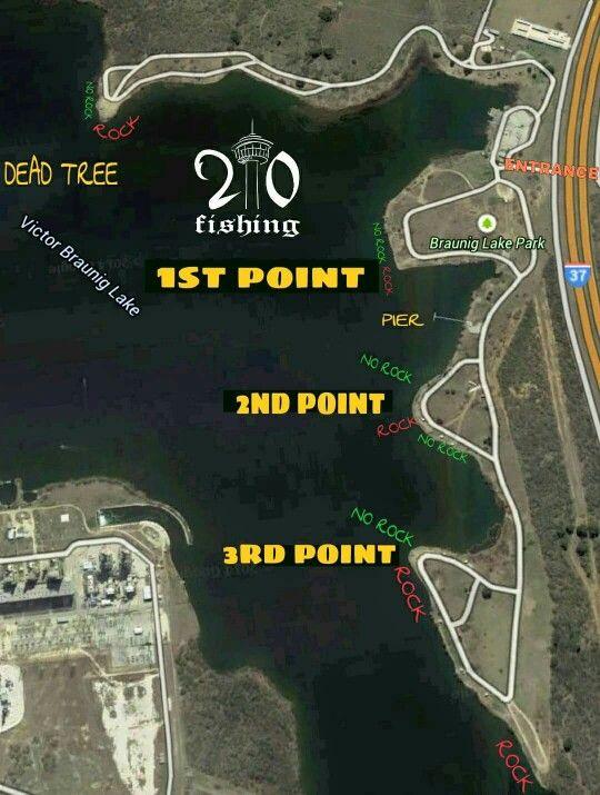 Braunig Lake | Lake park, Pier fishing, Lake