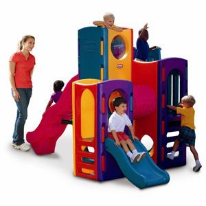 Little Tikes® Playground from #littletikes - $799.99--My brother recently bought one of these and it's been a tremendous success among the cousins...even more so than the costlier wood playsets.